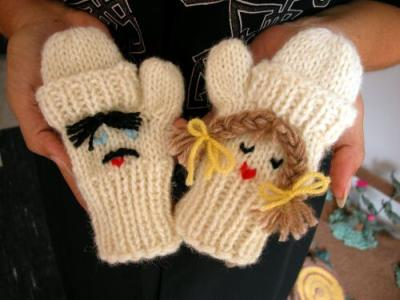 Pattern Free Baby Mittens Knitting Instructions